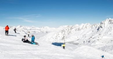 As Storm Angus sweeps Britain, skiers celebrate Alps snow perfection